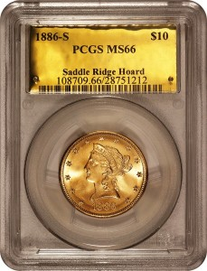 Saddle-Ridge-1886-S-Gold-Eagle-PCGS-MS66